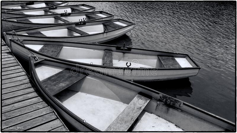 Boats for hire, Versailles royalty free stock images