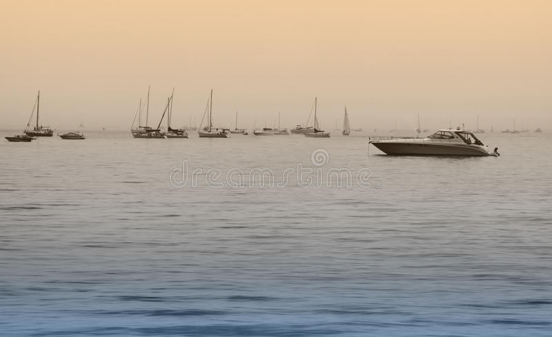 Download Boats on the Lake stock photo. Image of blue, people - 21008572