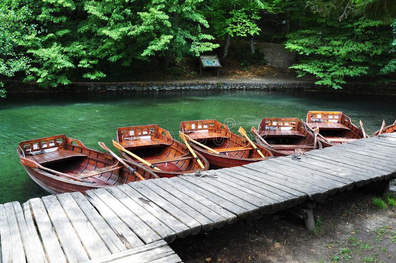 Boats By The Lake Royalty Free Stock Images