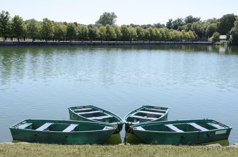 Boats On Lake Fontainebleau Stock Image