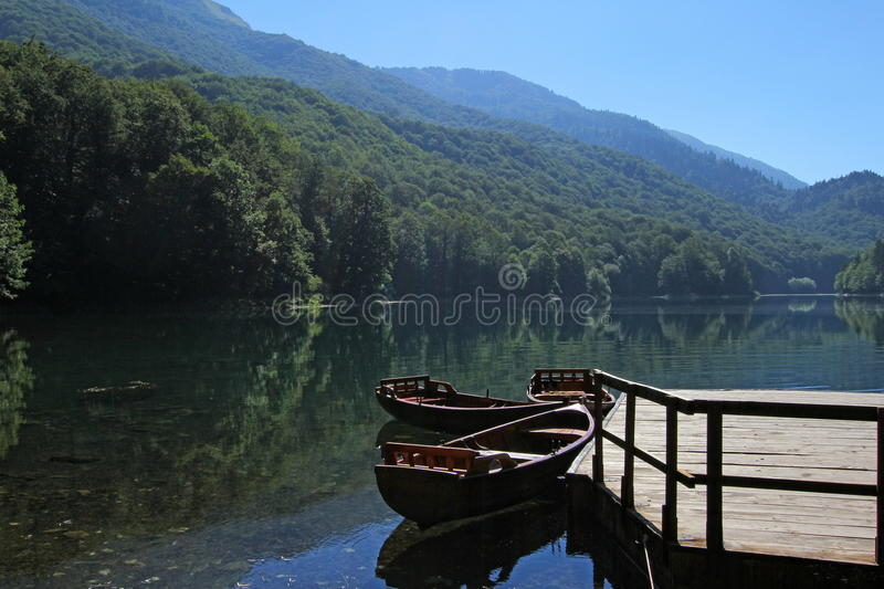 Boats on the lake royalty free stock photo