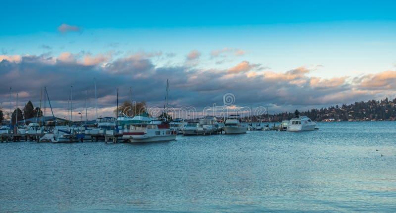 Boats On Lake Washington royalty free stock images