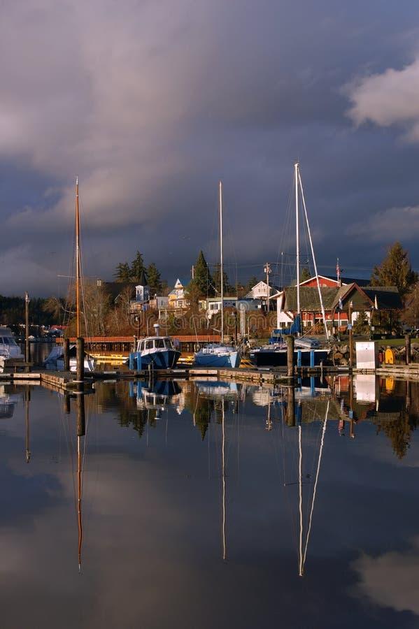 Boats in the marina royalty free stock photography