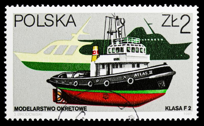 Boats, Models serie, circa 1981. MOSCOW, RUSSIA - SEPTEMBER 15, 2018: A stamp printed in Poland shows Boats, Models serie, circa 1981 stock photo