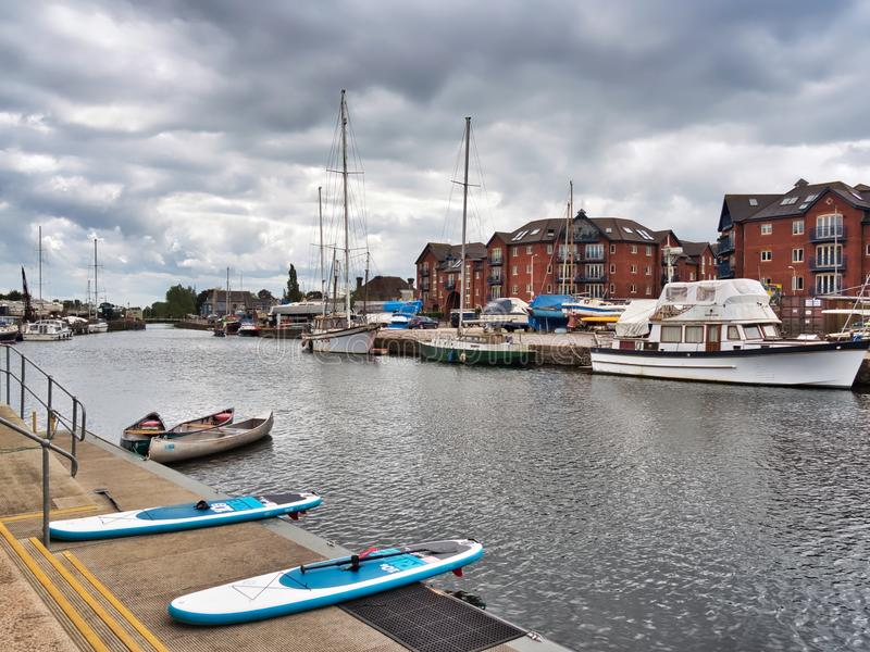 Boats Moored At The Exeter Canal royalty free stock photo