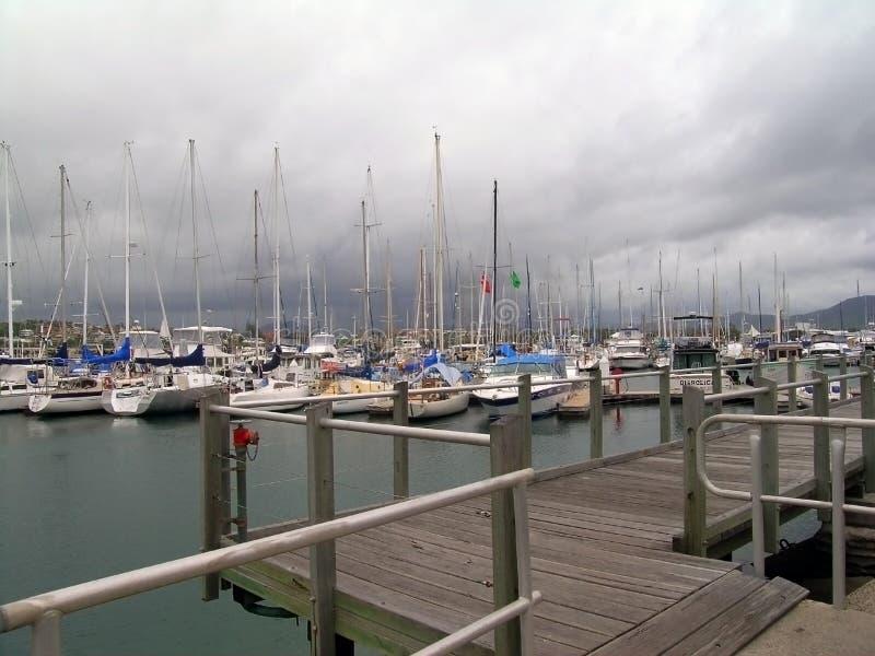 Boats At Mooring Royalty Free Stock Photos