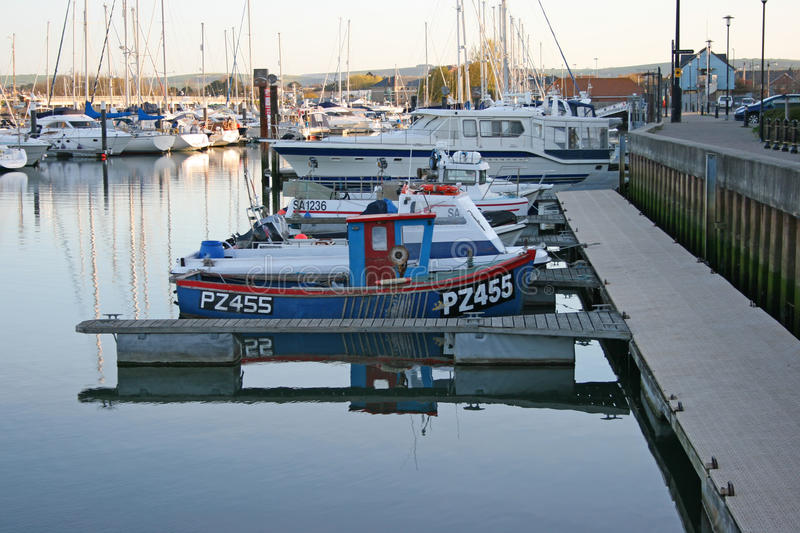 Boats in the morning. royalty free stock photo