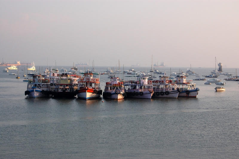 Download Boats in Mumbai harbour stock image. Image of calm, ferry - 12453975