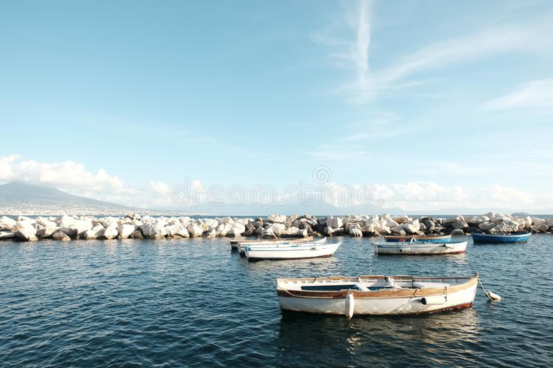 Boats in Napoli, Italy royalty free stock photo