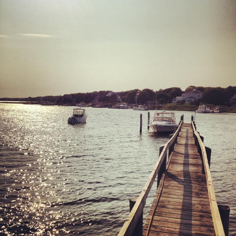 Free Boats Off Dock (Cape Cod) Royalty Free Stock Photo - 46607245
