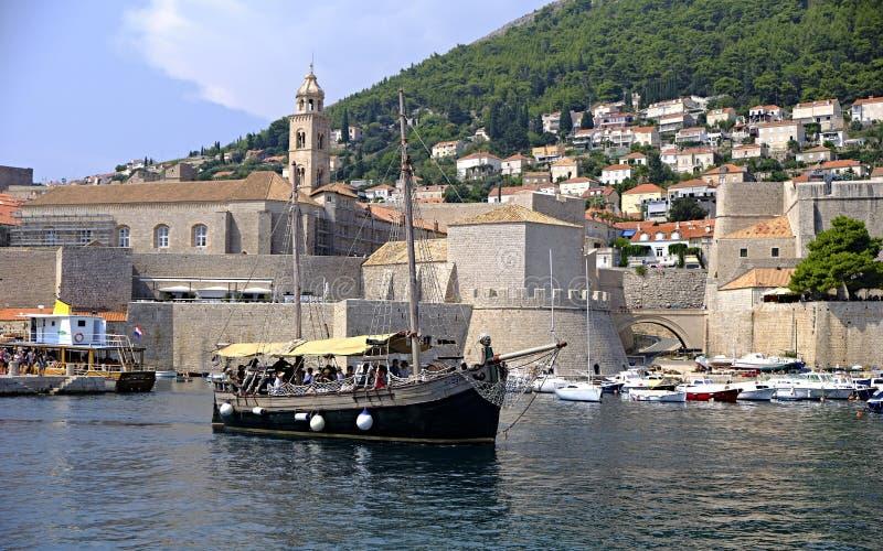 Old Harbour, Dubrovnik, Croatia royalty free stock photo
