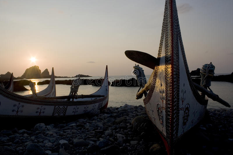 Boats and Pacific sunrise