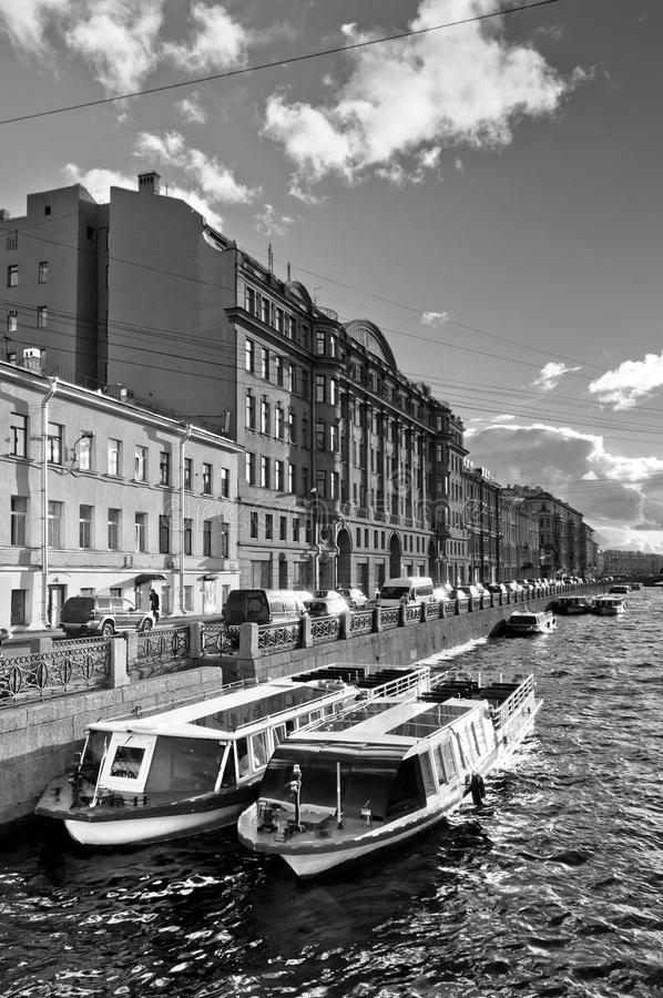 Download Boats Parking In City Channel Stock Photo - Image: 26492536