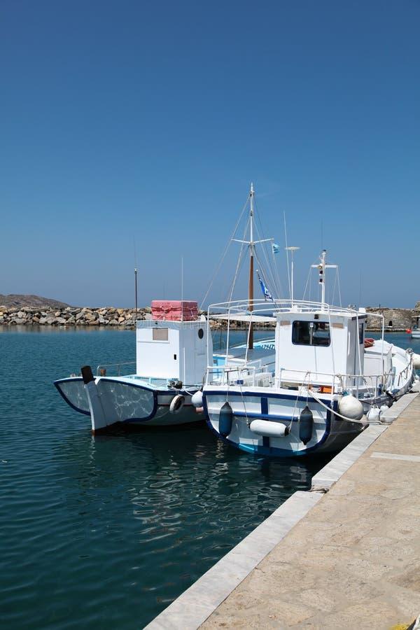Boats On Paros Island Royalty Free Stock Photos