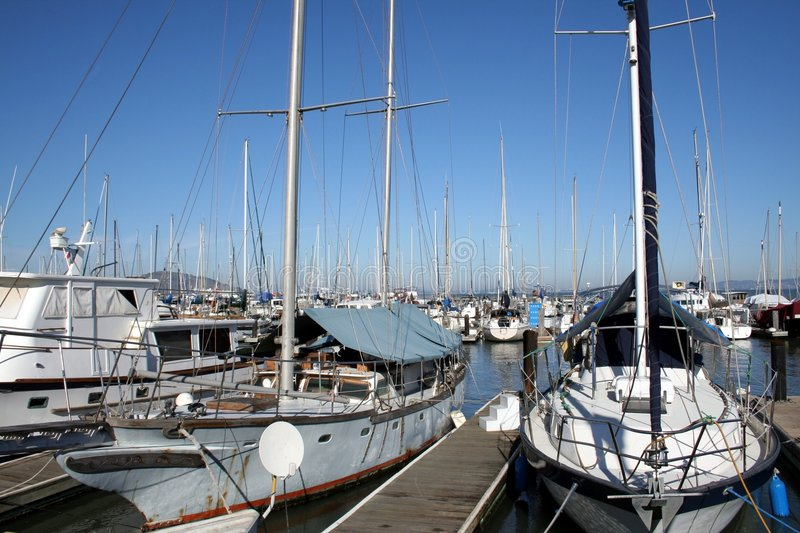 Boats In A Pier Royalty Free Stock Photo