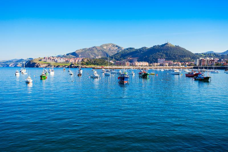 Boats at Castro Urdiales port. Boats at the port of Castro Urdiales. Castro Urdiales is a small city in Cantabria region in northern Spain royalty free stock photos