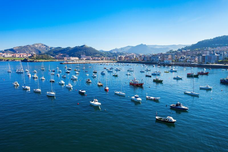 Boats at Castro Urdiales port. Boats at the port of Castro Urdiales. Castro Urdiales is a small city in Cantabria region in northern Spain royalty free stock photography