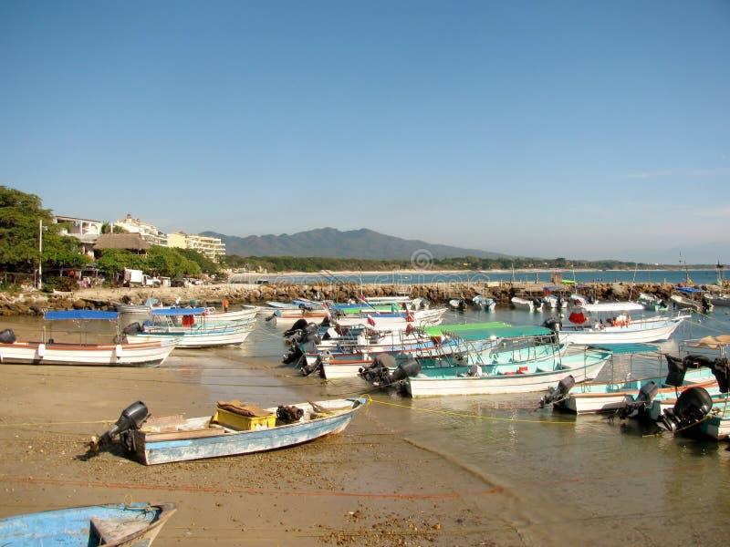Boats in Punta Mita Nayarit, Mexico royalty free stock image