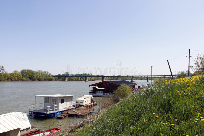 Download Boats On River Stock Photo - Image: 54754352