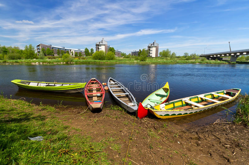 Boats at the river in Limerick