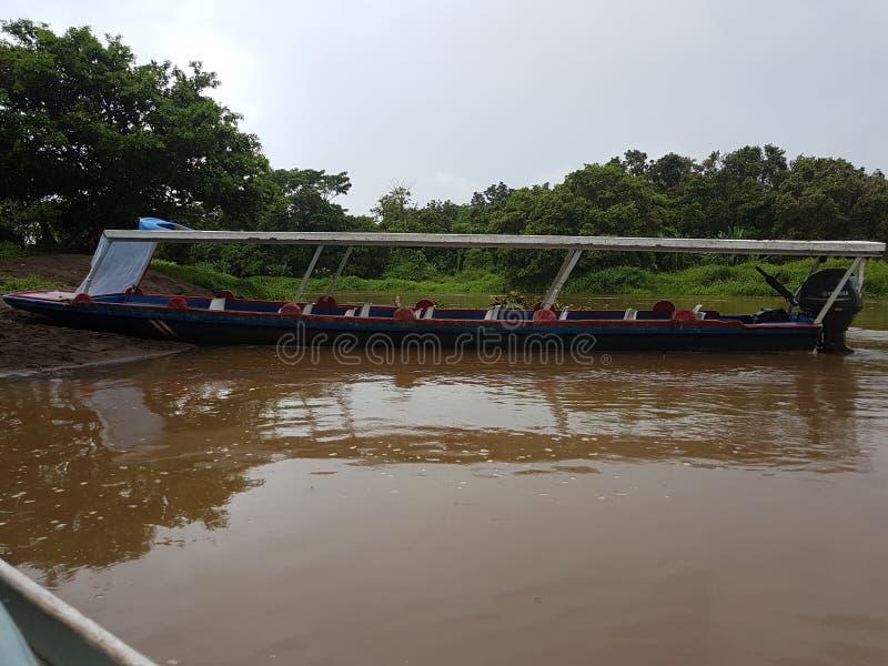 Boats On the River, Tortuguero. On the River, Tortuguero, Costa Rica royalty free stock photo