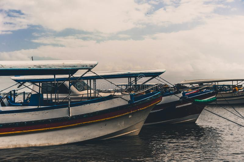 Boats in the Sea stock image