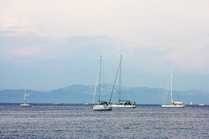 Boats. Sea view stock photography