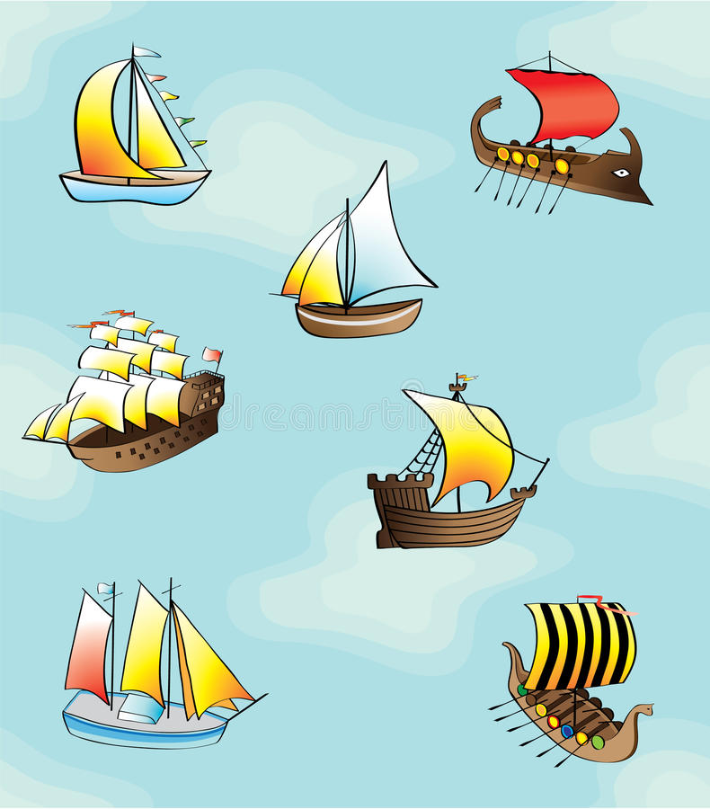 Download Boats - Seamless Pattern Stock Images - Image: 10454064
