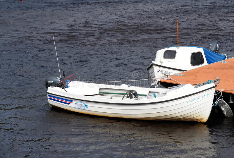 Boats On Shannon River In Ireland royalty free stock images