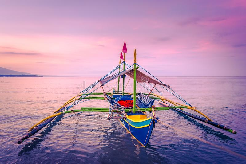 Boats at the shore of Morong, Bataan, Philippines.  royalty free stock image