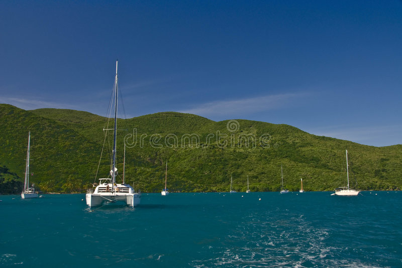 Download Boats In Soper's Hole stock image. Image of calm, idyllic - 3847039