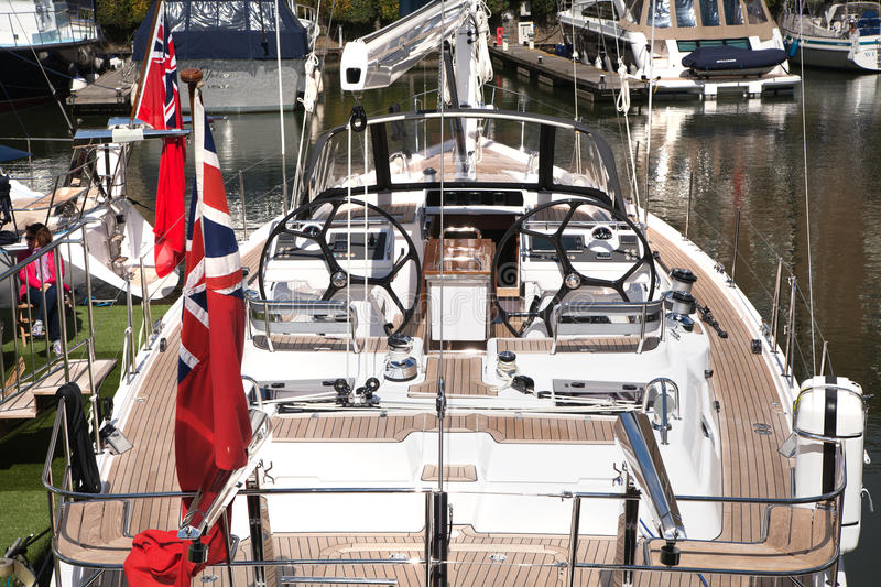Boats in the st. Catherine dock, centre of London royalty free stock photography