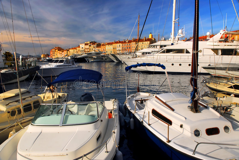 Boats at St.Tropez royalty free stock photography