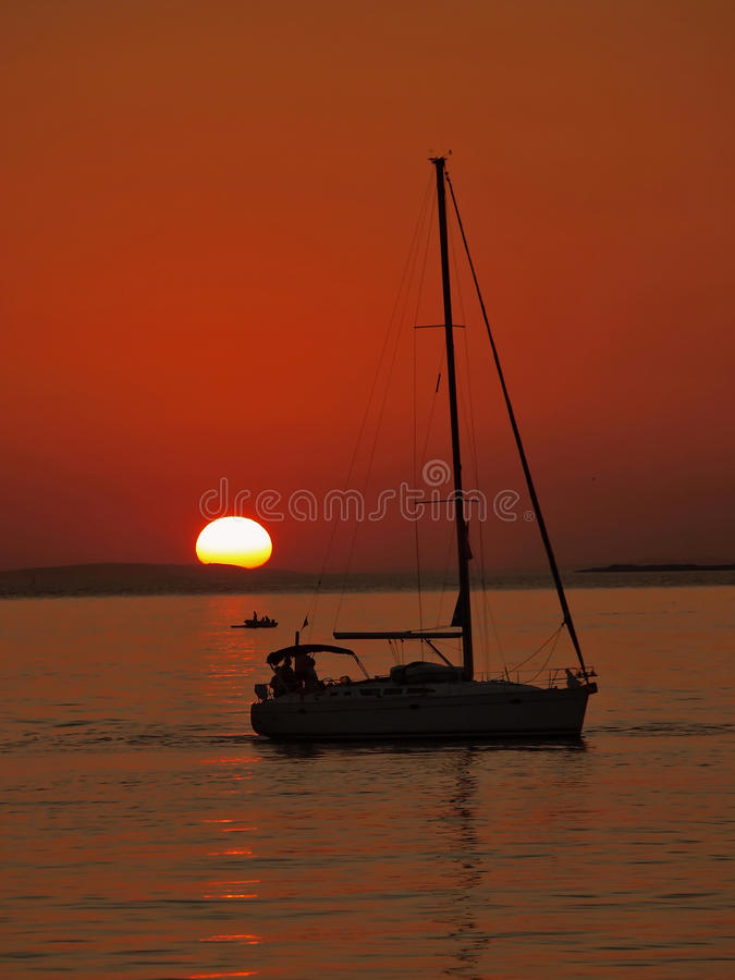 Download Boats in sunset stock photo. Image of clouds, navigate - 24980500
