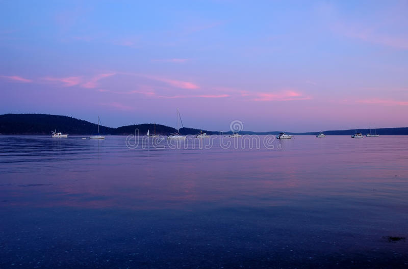 Download Boats At Sunset In Shore Of Lopez Island Stock Photo - Image: 11759370