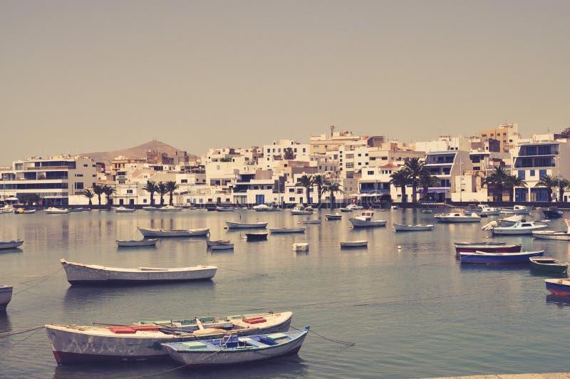 Boats in Tenerife royalty free stock photos
