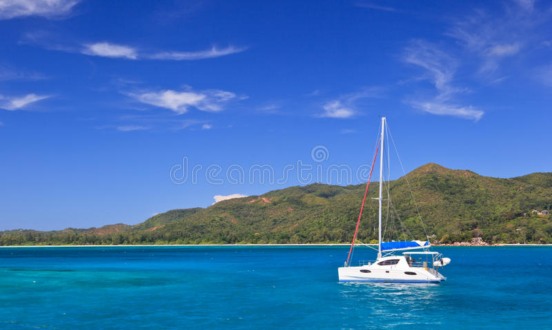 Download Boats on tropical beach stock image. Image of coast, adventure - 25251697