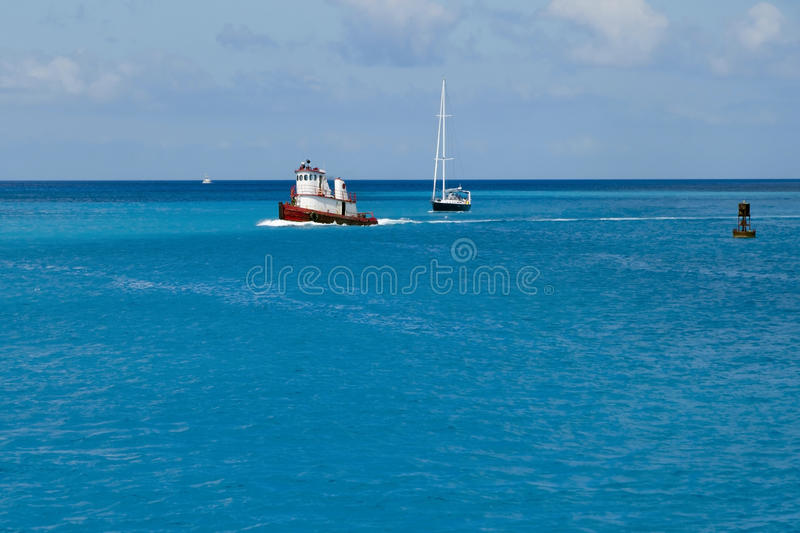 Download Boats in tropical waters stock photo. Image of caribbean - 23676750