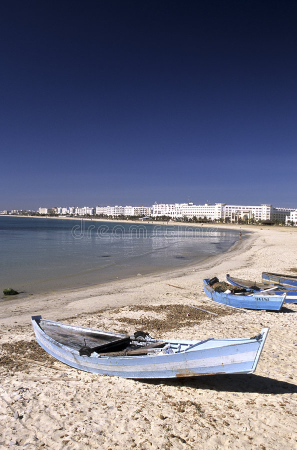 Boats- Tunisia stock images