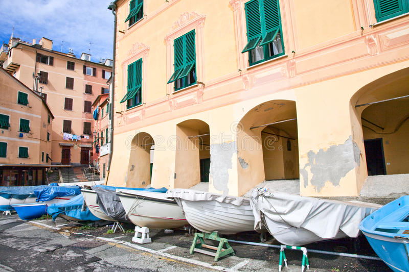 Download Boats under the house stock image. Image of street, fishermen - 13135807
