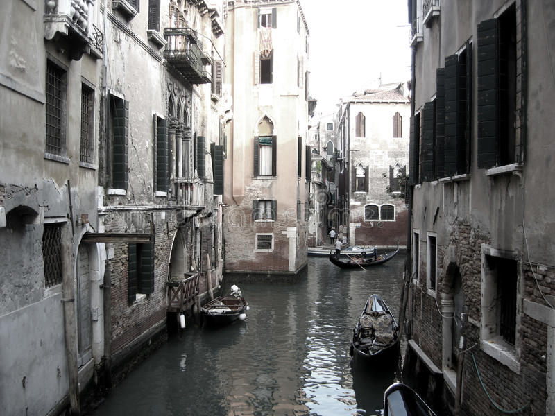 Boats On Venice Canal Royalty Free Stock Image