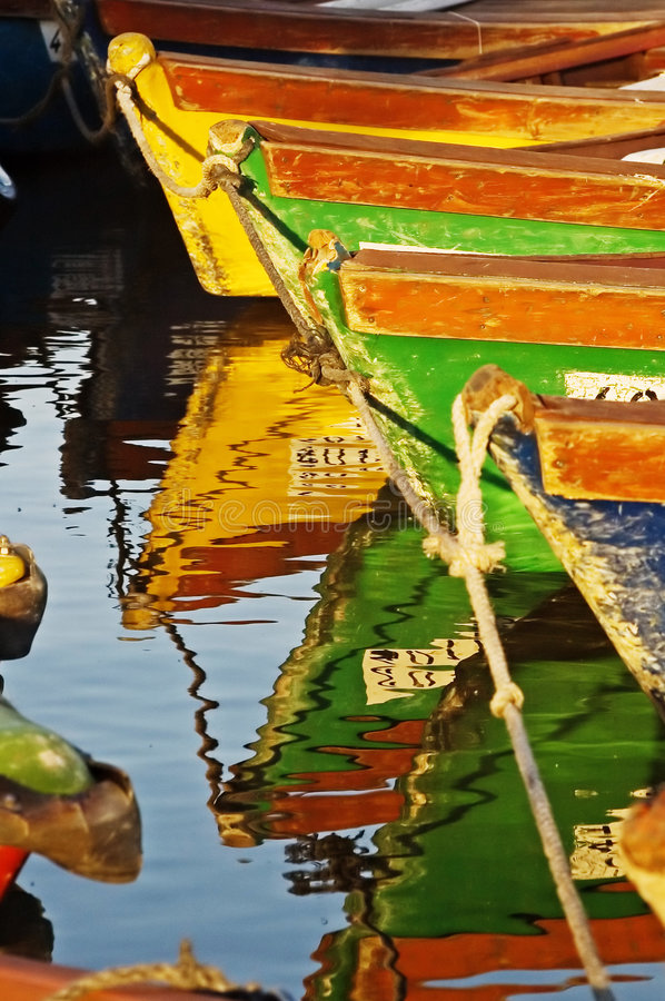 Boats in water royalty free stock photo