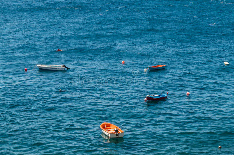 Boats on water surface royalty free stock images