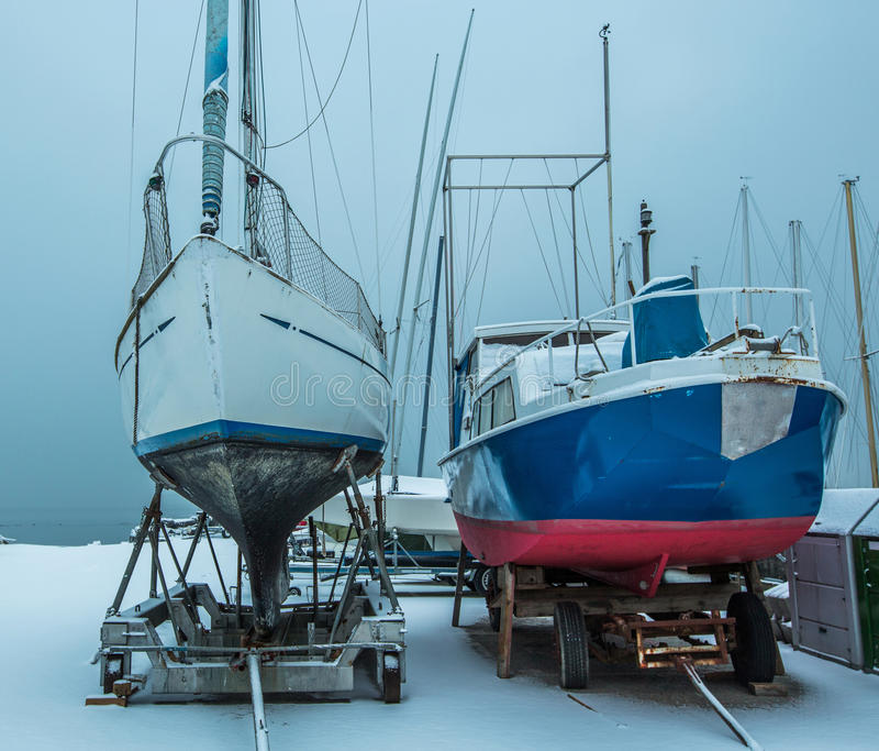 Download Boats in Winter stock image. Image of lake, sail, weather - 28743151