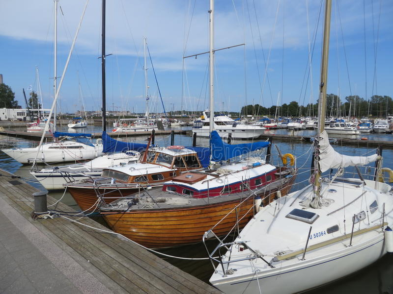 Download Boats And Yachts In Pohjoissatama Harbor Editorial Stock Photo - Image: 83711668