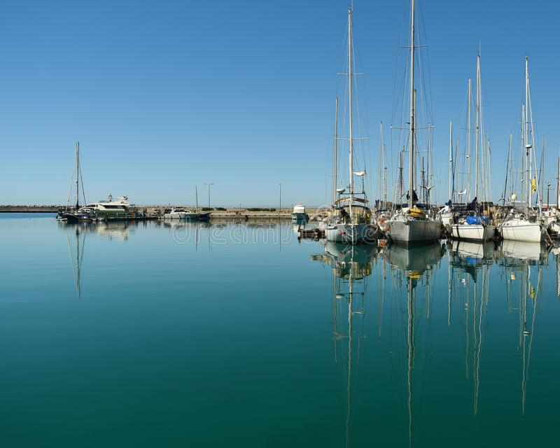 Download Boats And Yachts In The Port Stock Photo - Image of background, harbor: 90545666