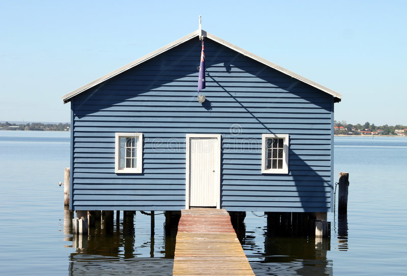 Download Boatshed I stock image. Image of outdoor, reflection, pier - 100213