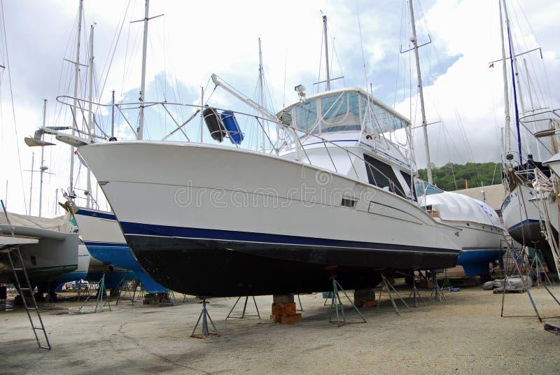 Boatyard stockfotografie
