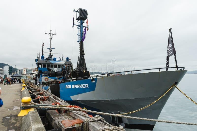 Bob Barker-boot van Overzeese Herder royalty-vrije stock foto