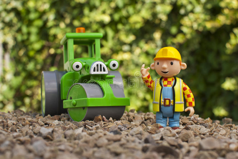 Bob the builder and Roley royalty free stock photo